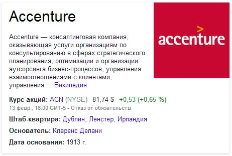 Справка об Accenture