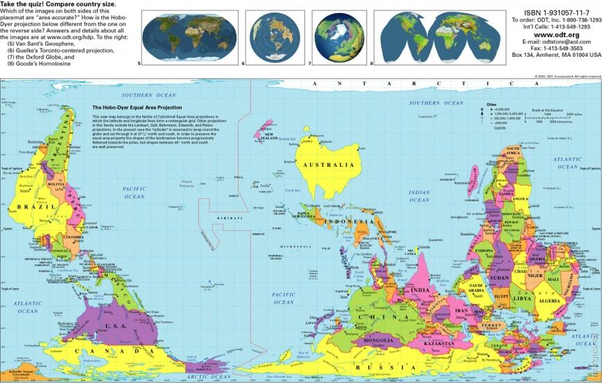 Перевернутая австралийская карта мира