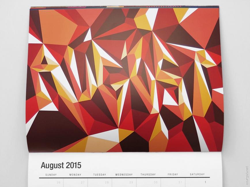 Яркий календарь от Мэттью Мура