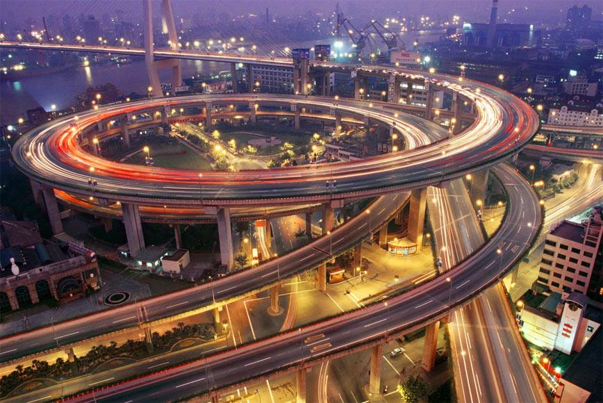 Китайские дорожные эстакады