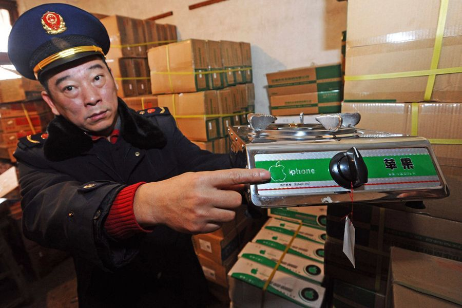 Китайская полиция конфисковала сотни iPhone