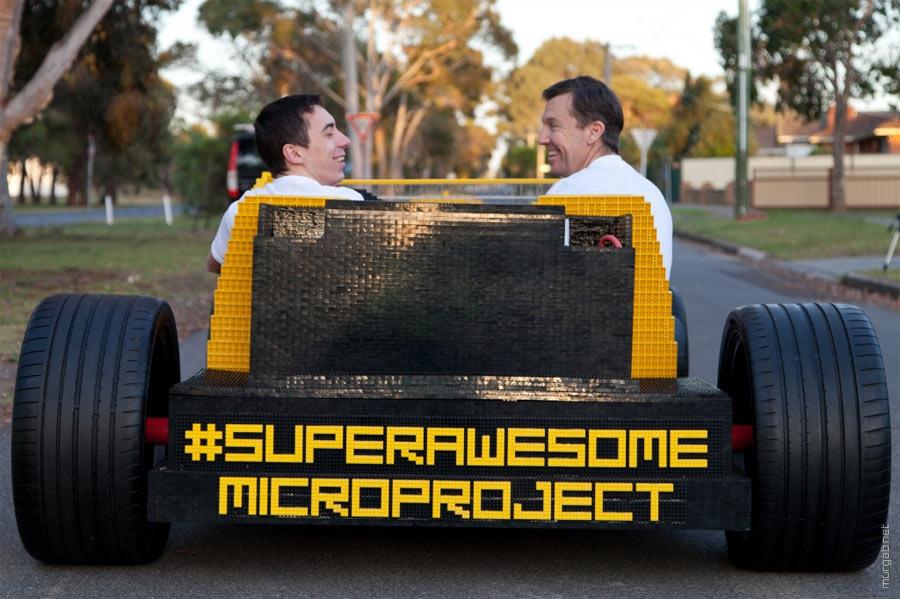 Румынский инженер собрал пневматический автомобиль из Lego