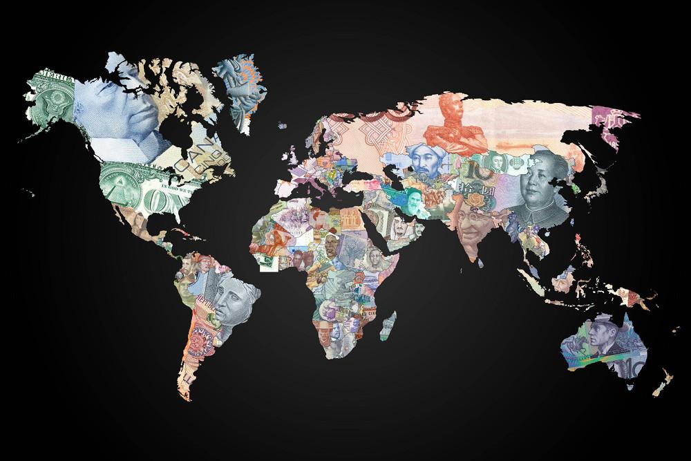 Деньги на карте мира