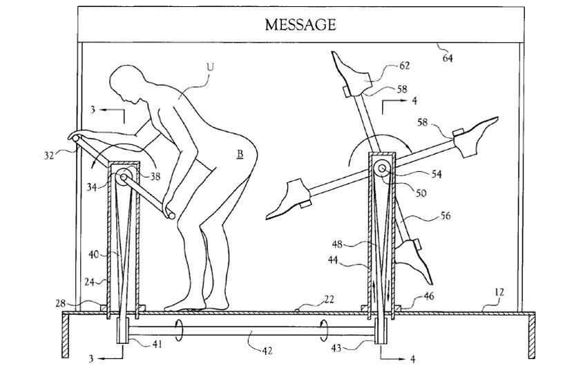 Развлекательный аппарат для пинания собственной задницы