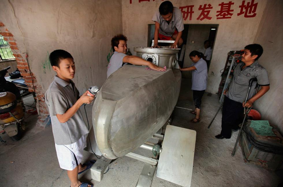Самодельная подлодка из глубинки Китая