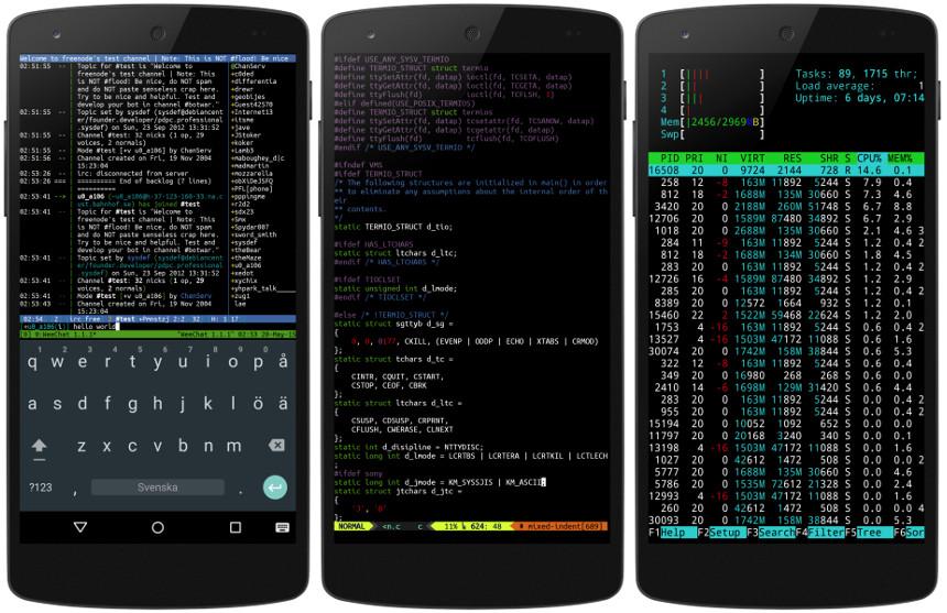Скриншот Termux