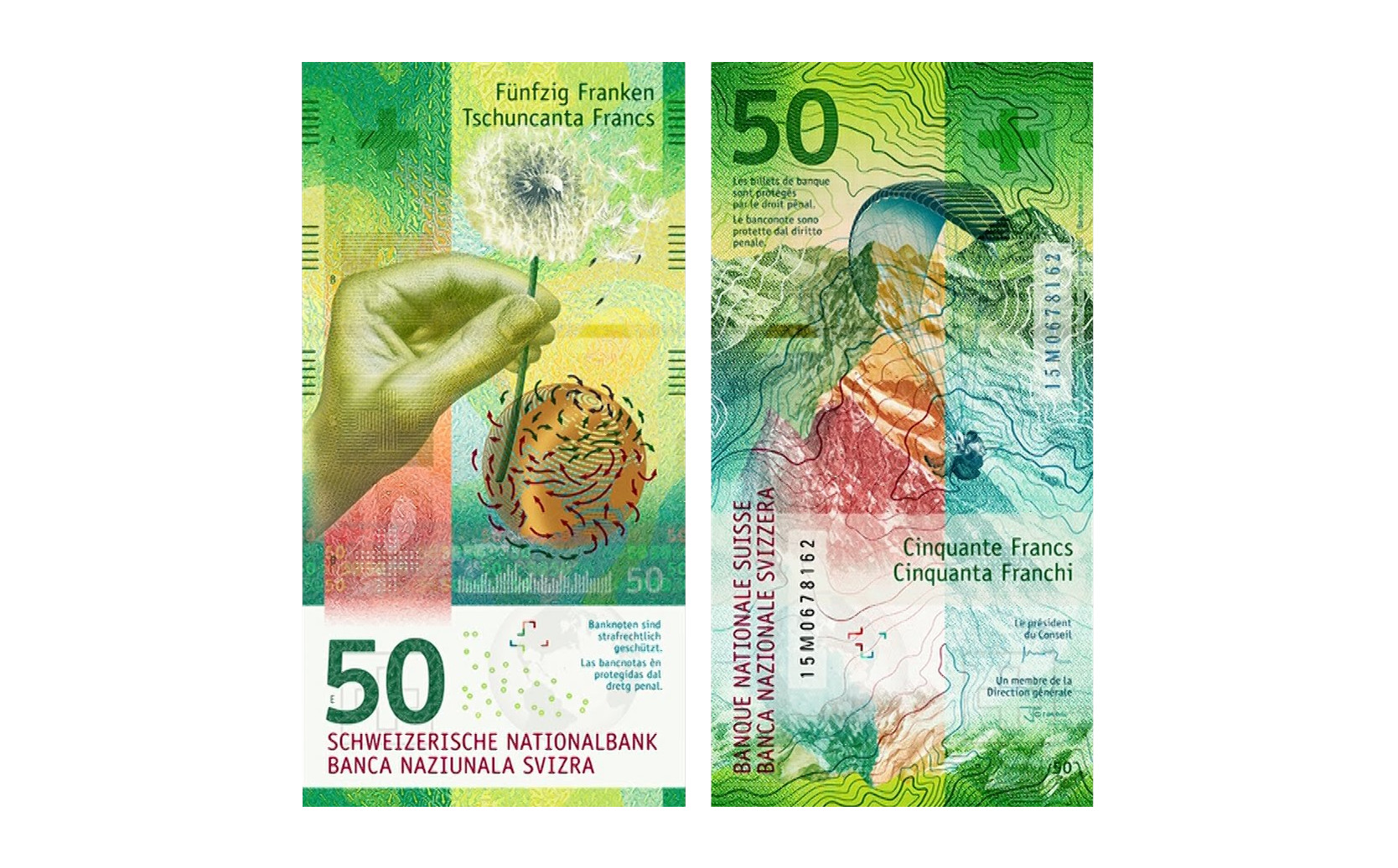 Лучшая купюра 2016 года — 50 швейцарских франков