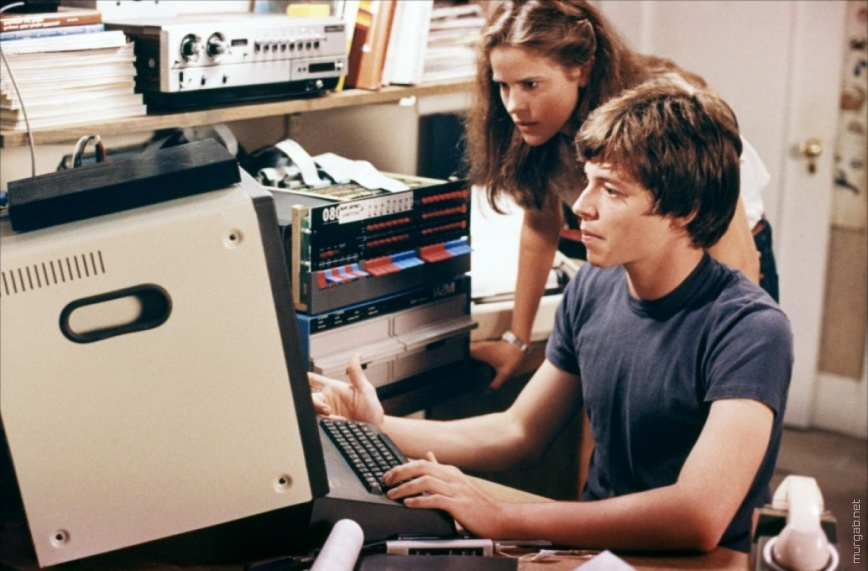 Кадр из фильма «Военные игры» (1982 г.), в кадре — один из компьютеров корпорации IMSAI