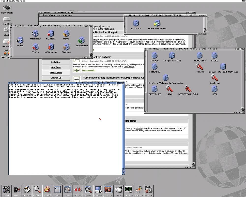Скриншот AmigaOS
