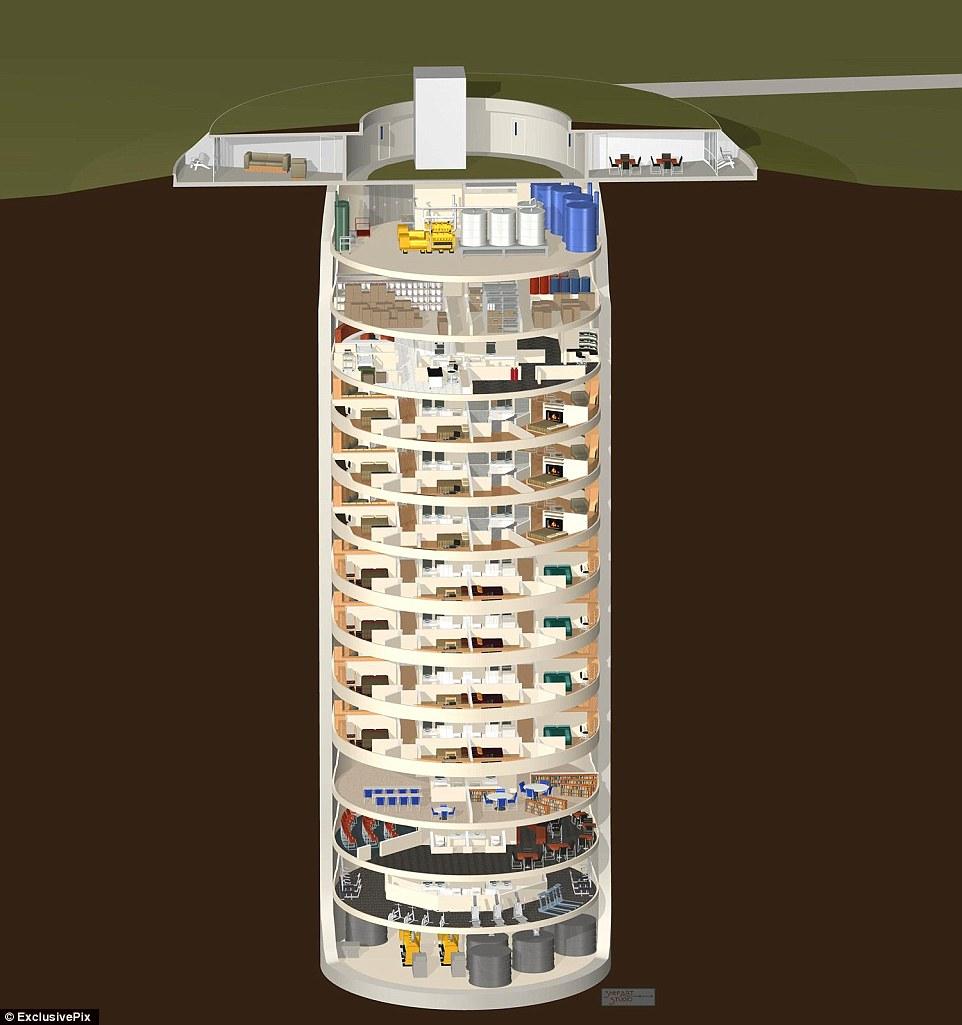 Частный кондоминиум в виде бункера, способного вынести ядерный взрыв