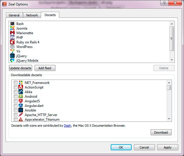 Скриншот программы Zeal