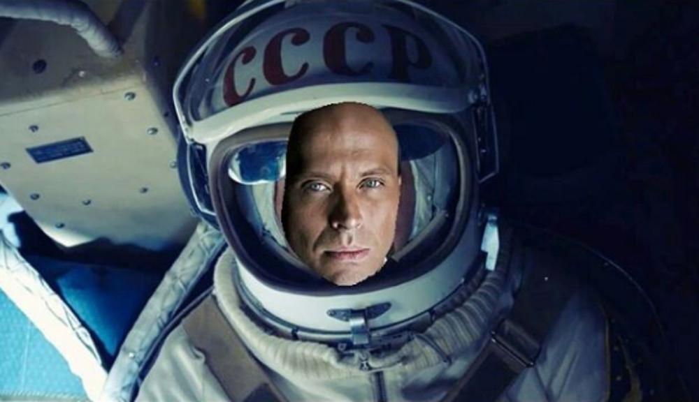 Сергей Дружко в космосе