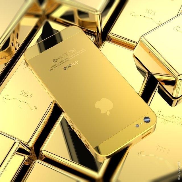 Золотой айфончик
