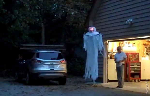 Приведение из квадрокоптера на Хеллоуин
