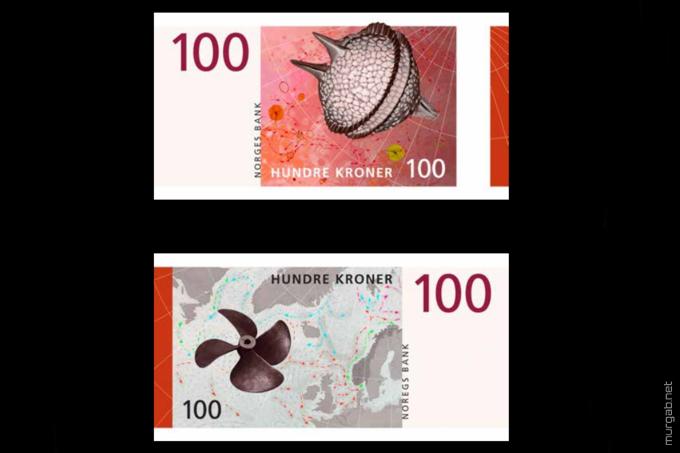 Новая купюра норвежской кроны