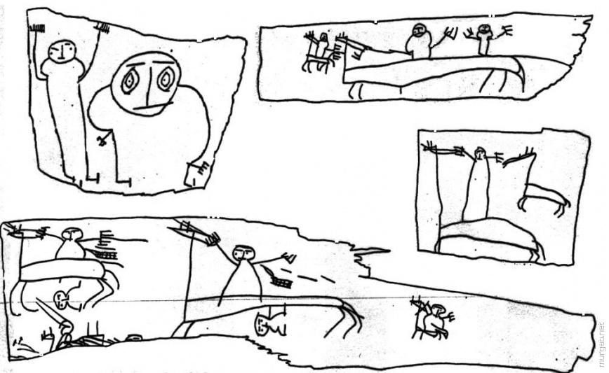 Рисунок Онфима на бересте