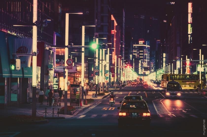 Ночной Токио от Масаши Вакуи