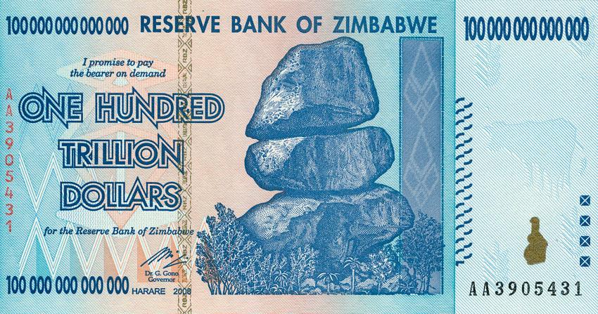Зимбабвийские доллары