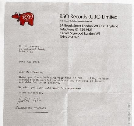 Отказ в сотрудничестве с U2